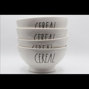 Rae Dunn Set of 4 cereal bowls